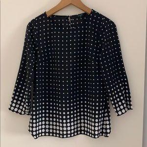 JCrew polka dot blouse, XS
